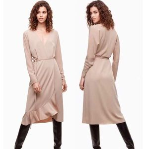 Aritzia Wilfred Josie Wrap Dress
